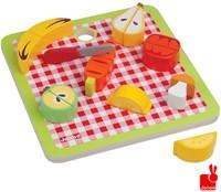 Janod  houten keuken accessoire Chunky groente & fruit magnetisch-1