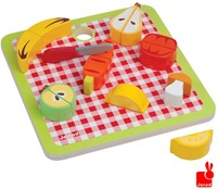 Janod  houten keuken accessoires Chunky groente & fruit magnetisch-1