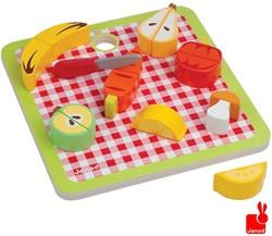Janod  houten keuken accessoires Chunky groente & fruit magnetisch