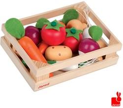 Janod  houten keuken accessoires Kistje 12 stuks groente