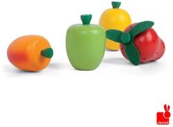 Janod  houten keuken accessoires Kistje met 12 stuks fruit