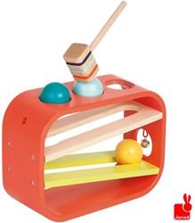 Janod  houten leerspel Tatoo Frappa'Ball hamertje tik