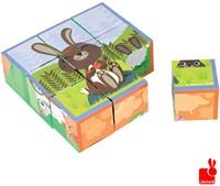 Janod  houten blokpuzzel Kubkid boederijdieren-1
