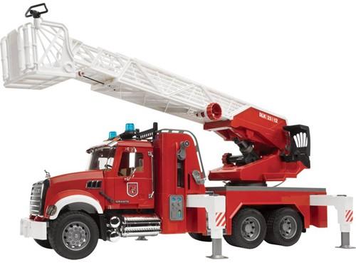 Bruder Mack Brandweer ladderwagen met waterpomp - 2821