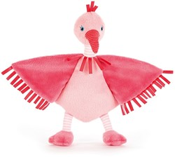 Jellycat Flapper Flamingo Soother - 23cm