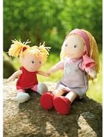 Haba  Lilli and friends knuffelpop Poppenzusjes Lennja & Elin - 30 cm en 18 cm-3