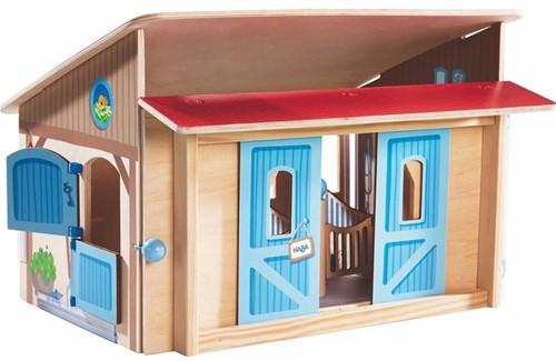 Haba  Little Friends houten poppenhuis Paardenstal-1