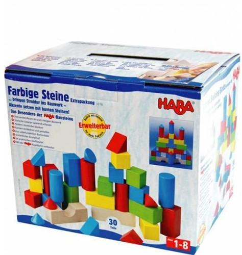 Haba  houten bouwblokken Gekleurde blokken (30 blokken)-2