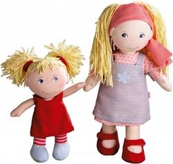 Haba  Lilli and friends knuffelpop Poppenzusjes Lennja & Elin - 30 cm en 18 cm