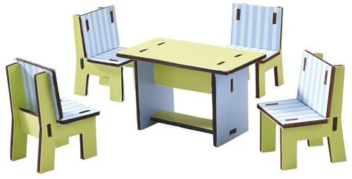 Haba  Little Friends houten poppenhuismeubels eetkamer-1