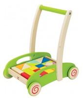 Hape houten loopwagen Block and Roll-1
