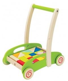 Hape houten loopwagen Block and Roll