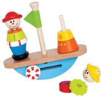 Hape houten stapelfiguur Balancerende boot-3