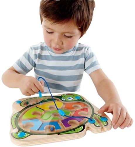 Hape houten leerspel Doolhof zeeschildpad-2