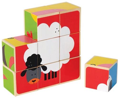 Hape houten blokpuzzel Boerderij-1