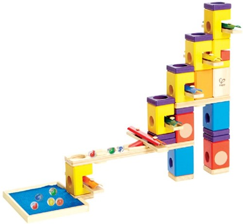 Hape Quadrilla houten knikkerbaan set Music Motion