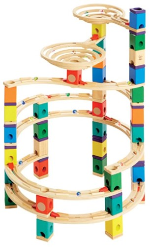 Hape Quadrilla houten knikkerbaan set The Cyclone-3