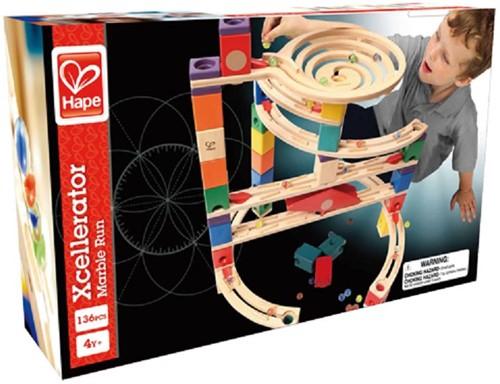 Hape Quadrilla houten knikkerbaan set Xcellerator-2