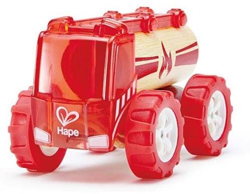 Hape houten speelvoertuig kleine Brandweerauto-1