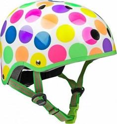 Micro  loopfiets accesoires Helm neonstippen - Maat S