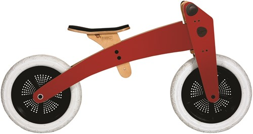 Wishbonebike  houten loopfiets 3-bikes-in-1 Special rood-3