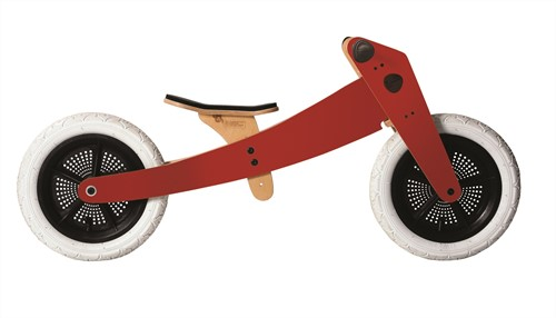 Wishbonebike  houten loopfiets 3-bikes-in-1 Special rood