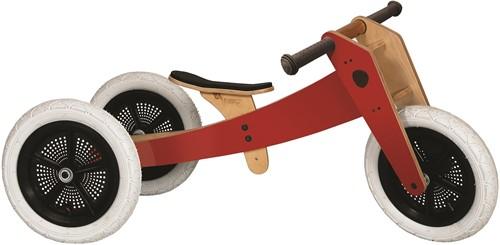 Wishbonebike  houten loopfiets 3-bikes-in-1 Special rood-1