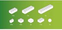 Hubelino  knikkerbaan accessoires wit 105-delig-2