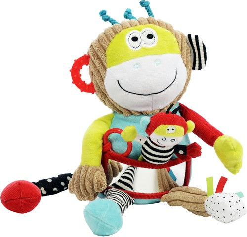 Dolce Toys activiteitenknuffel Aap