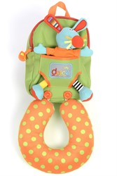 Dolce Toys Rabbit back pack with neck Support