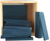Kapla  houten bouwplankjes 40 Donkerblauw-2