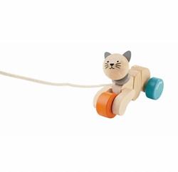Plan Toys houten trekfiguur Pull-along Cat 5435