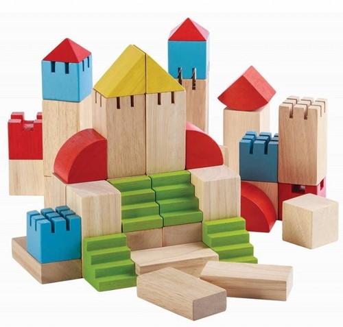 Plan Toys 46 houten creatieve blokken