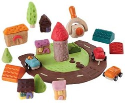 Plan Toys  houten boetseerset Build-a-town dough set