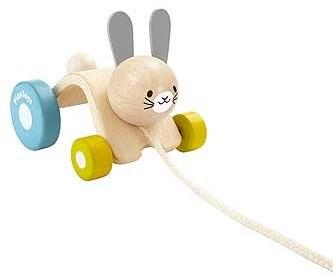 Plan Toys  houten trekfiguur Hopping Rabbit
