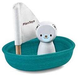 Plan Toys  houten badspeelgoed Sailing Boat Polar Bear