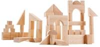Plan Toys 50 blanke houten blokken