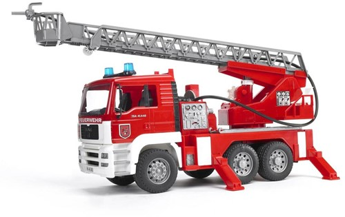 Bruder MAN Fire engine with water pump. and Light & Sound Module