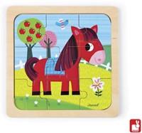 Janod  houten legpuzzel Puzzel paard-2