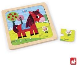 Janod  houten legpuzzel Puzzel paard