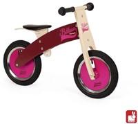 Janod  houten loopfiets Bikloon roze/bordeaux-1