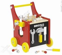 Janod  Bricolo houten constructie speelgoed Gereedschapstrolley met accessoires