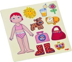 Haba  kinderspel Magneetspel Aankleedpop Lilli 7392