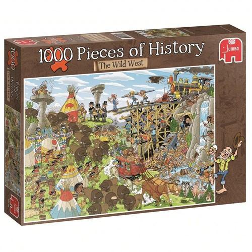 Jumbo puzzel Geschiedenis -  The Wild West - 1000 stukjes