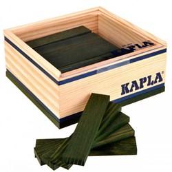 Kapla  houten bouwplankjes 40 donkergroen in kistje