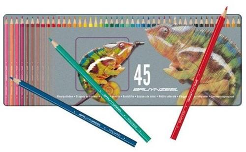 Bruynzeel  teken en verfspullen Kleurpotloden in blik 45