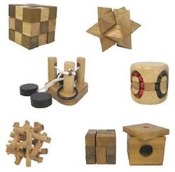 Longfield Games puzzelspel Houten IQ puzzel