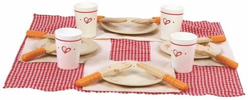 Hape houten keuken accessoires Lunch Time Set-1