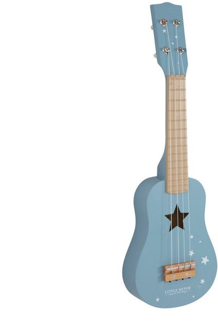Verrassend Little Dutch houten Gitaar blauw bij Planet Happy NE-18