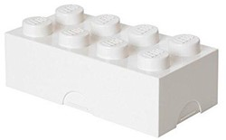 LEGO kinderservies Lunchbox - brick 8: wit